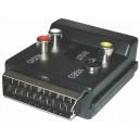 Adaptér SCART kon. - SCART zás + S-VHS 3 CINCH